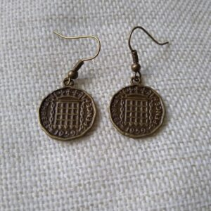 threepenny bit earrings