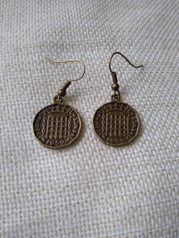 threepenny bit earrings