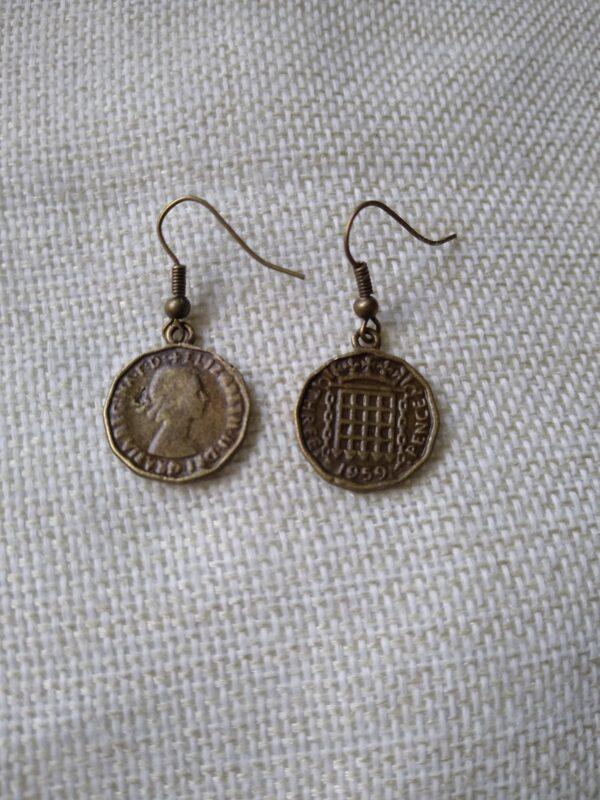 Three penny Bit Earrings