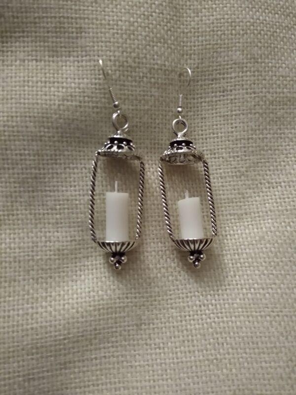 candle earrings