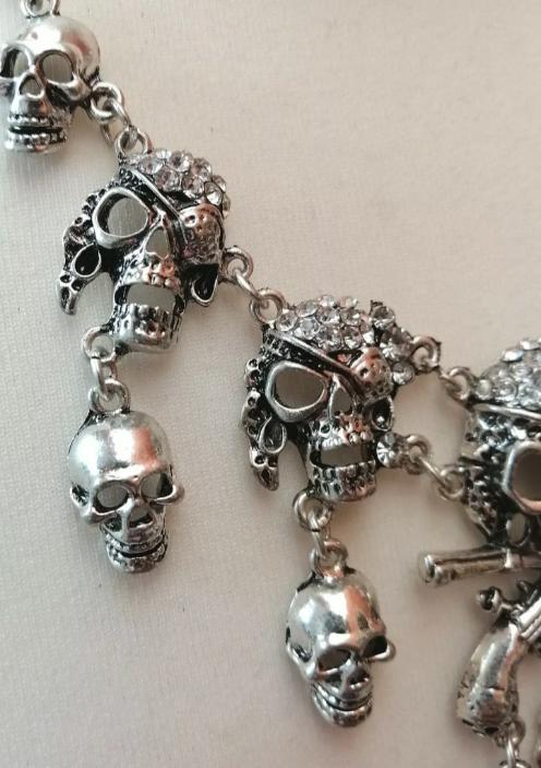side of Skull necklace