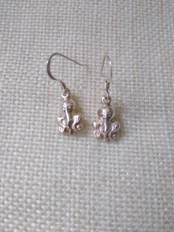 sterling silver Octopus earings