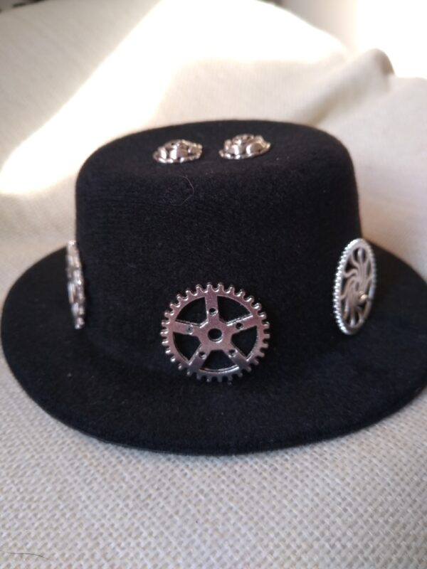 silver steampunk hat