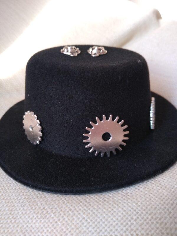 steampunk hat silver