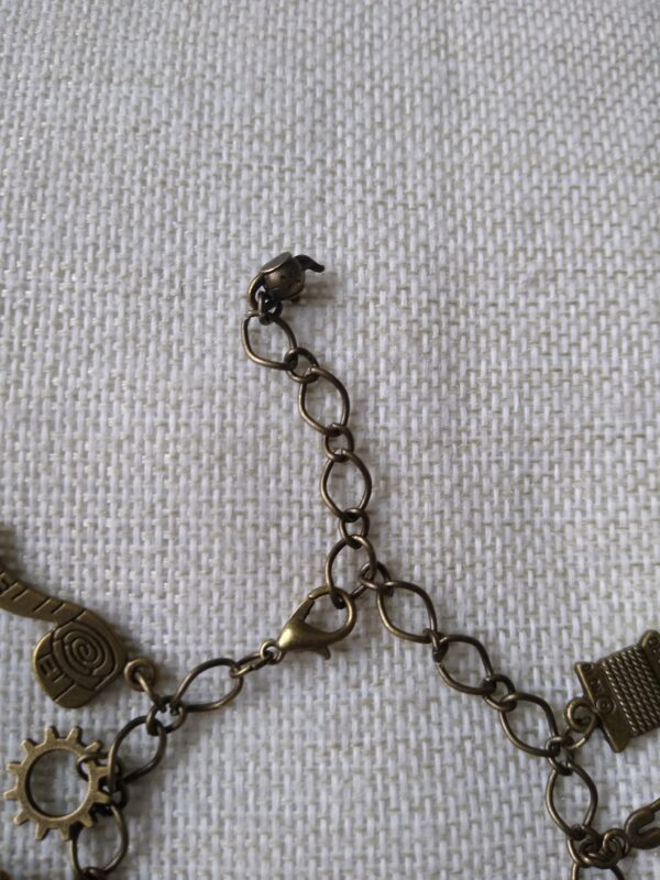 bronze steampunk charm bracelet