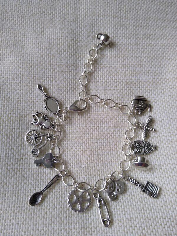 speampunk silver charm bracelet