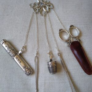 silver sewing chatelaine