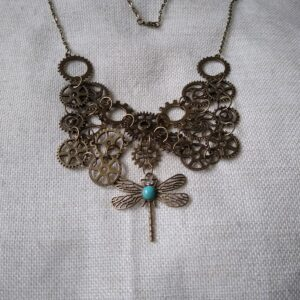 steampunk bronze collar