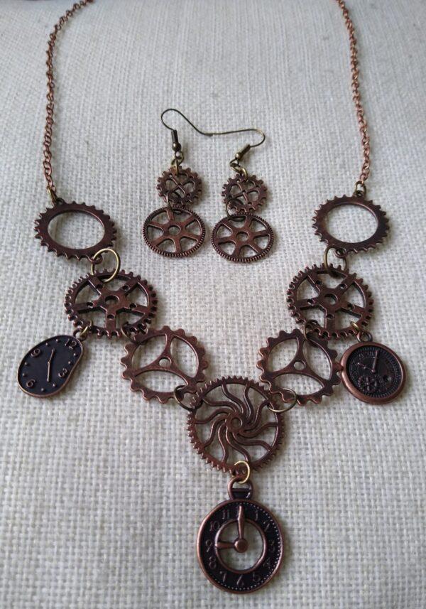 steampunk red copper set