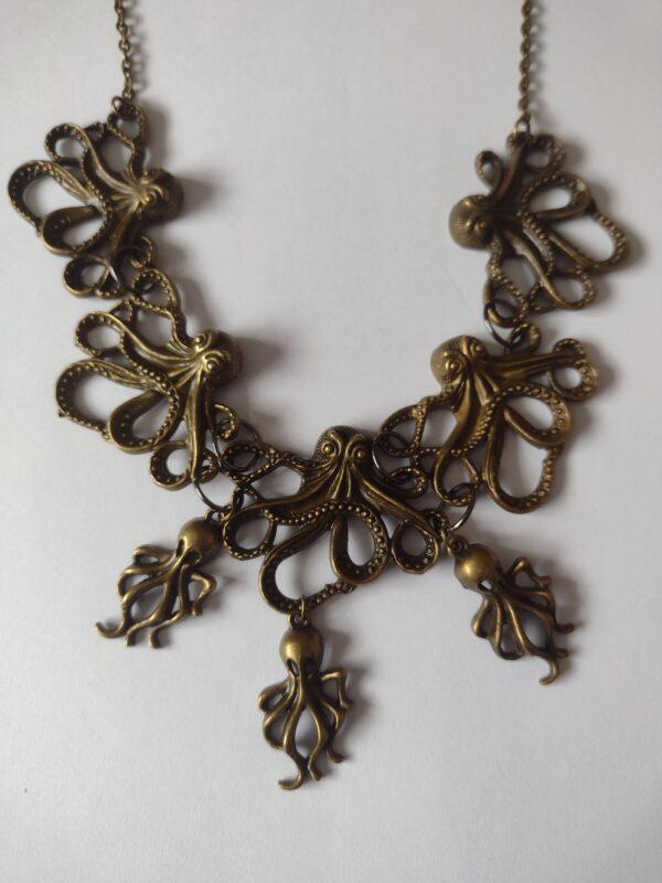 bronze octopus necklace