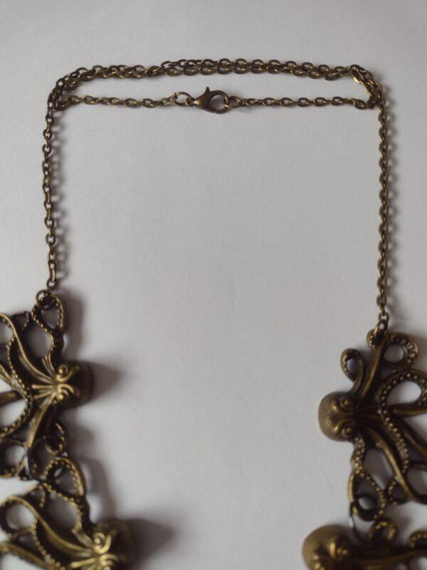 bronze necklace octopus