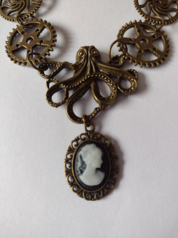 octopus cameo necklace