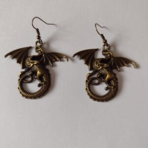 large dragon earrings