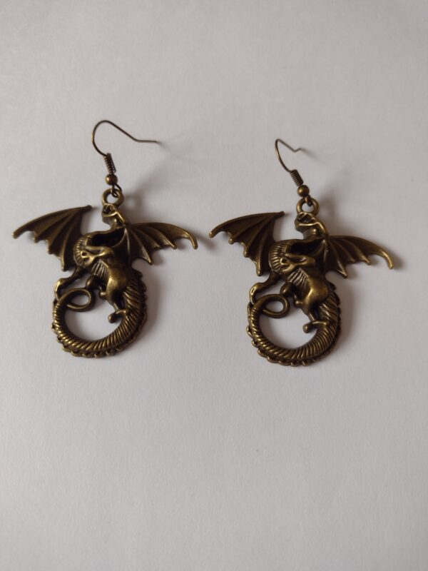 large dragon earrings