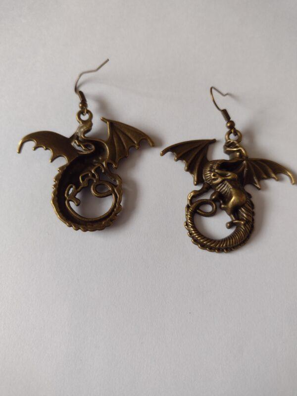 pair dragon earrings