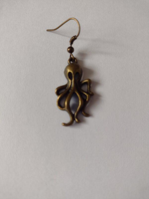 single octopus earring