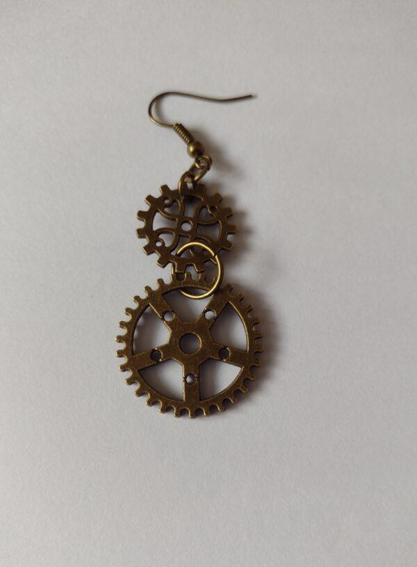 double cog earring
