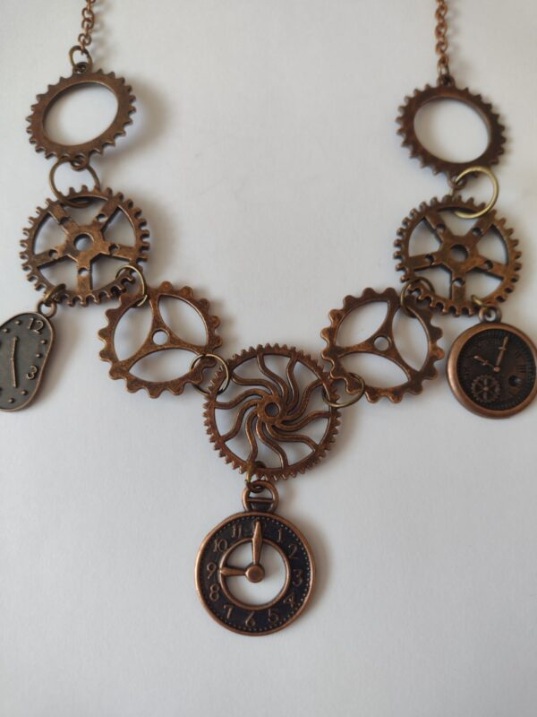 red copper necklace chain