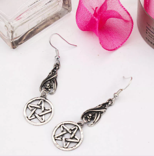 gothic pagan earrings