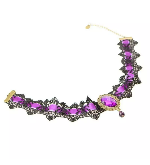 black purple choker