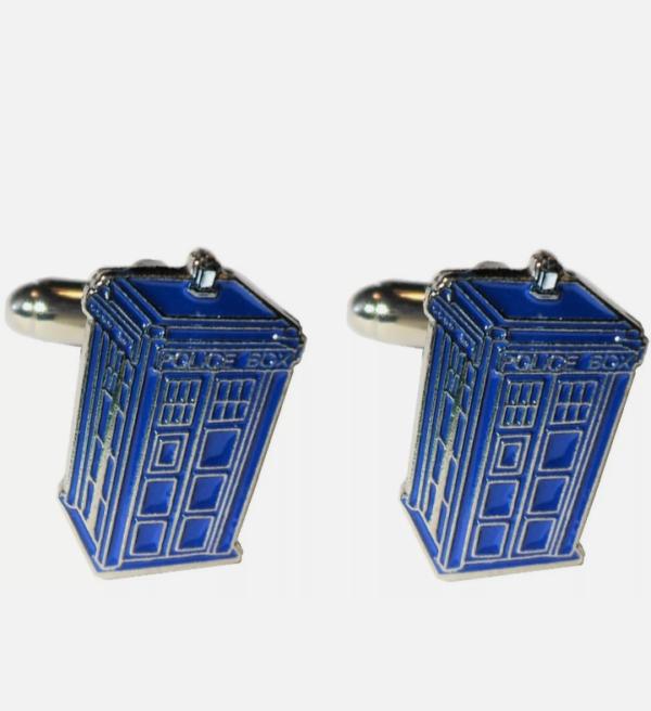 tardis blue cufflinks