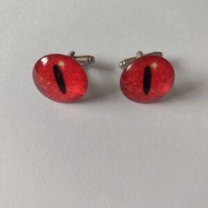 red eye cufflinks