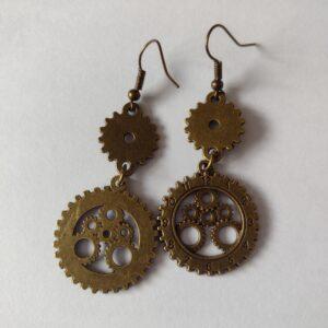 2 cog earrings