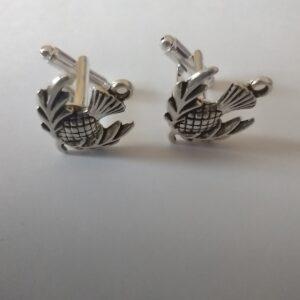 silver thistle cufflinks