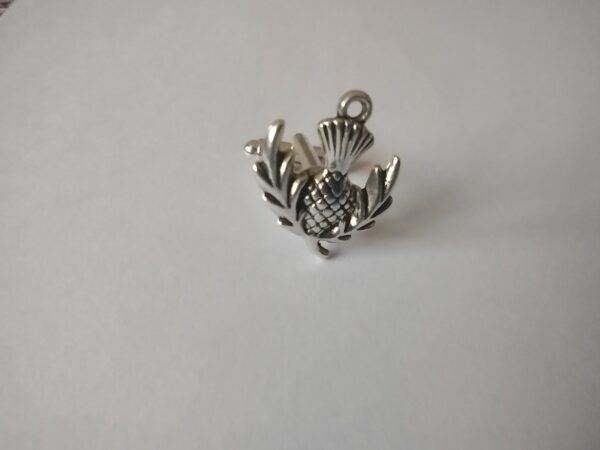 silver thistle cufflink