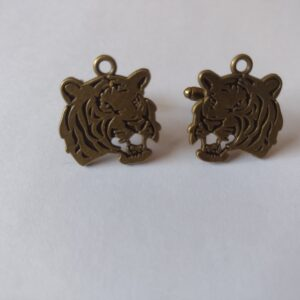 bronze tiger cufflinks
