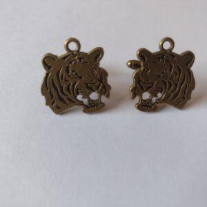 bronze tiger cufflinks