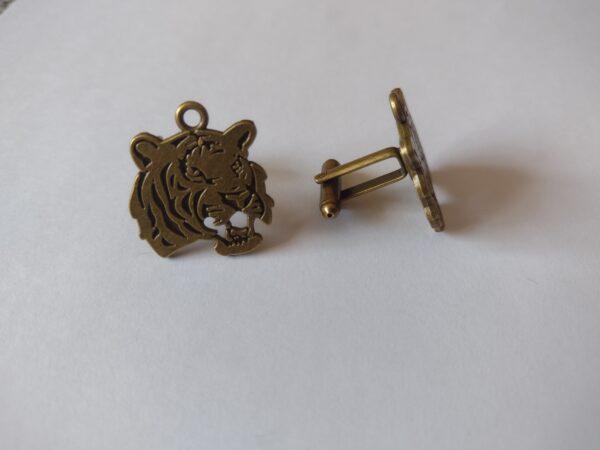 Smart bronze tiger cufflinks